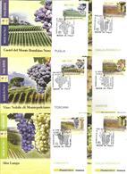 Enologia, Uva, Vino, Vite. 2013, Italia, Serie 15 Cartoline Maximum Di Poste Italiane Annullo Primo Giorno Di Emissione. - Agricoltura