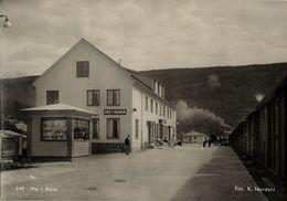 Norway Norge, MO I RANA, Nordland, Railway Station (1950s) RPPC Postcard - Norway