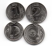 Moldova - 1 + 2 Lei 2018 UNC Set 2 Coins Lemberg-Zp - Moldavie
