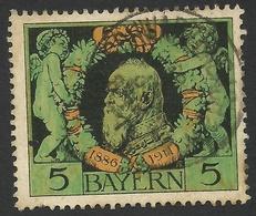 Bavaria, 5 Pf. 1911, Sc # 92, Mi # 92, Used. - Bavaria