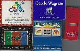 5 Boites D'allumettes Casino Sete-paris-cap D'agde-megeve-font Romeu - Boites D'allumettes