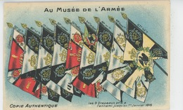 GUERRE 1914-18 - Au Musée De L'Armée - Les 9 Drapeaux Pris à L'ennemi Jusqu'au 1er Janvier 1915 - Guerre 1914-18