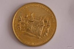 JETON MONNAIE DE PARIS CHATEAU De PIERREFONDS  MEDAILLE COLLECTION NATIONALE  DOS SIMPLE SANS DATE - Monnaie De Paris