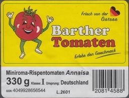 Et036 - Label Barther Tomatos - Fruits & Vegetables
