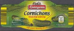 Et039 - Label Cornichons (Klostergarten) - Fruits & Vegetables