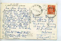 08 ASFELD Le Barrage écrite Du Village En 1953 Timbrée Avec Cachet De Départ    /D08-2015 - France