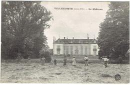 21 VILLECOMTE  Le Château, Ramassage Des Foins - Autres Communes