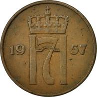 Monnaie, Norvège, Haakon VII, 5 Öre, 1957, TTB, Bronze, KM:400 - Norvège