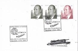 30079. Carta BARCELONA 2003. Colegio Quimicos. DIA De La QUIMICA - 1931-Hoy: 2ª República - ... Juan Carlos I