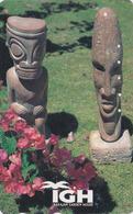 Télécarte Japon / 110-011 - GUAM MARIANA ISLANDS - Archeologie Archeology - Sculpture INARAJAN GARDEN - Japan Phonecard - Guam