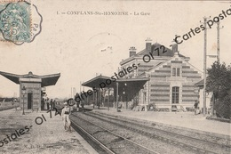 CPA [78] Yvelines > Conflans Saint Honorine - La Gare - Animée - Conflans Saint Honorine