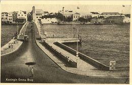 Curacao, WILLEMSTAD, Queen Emma Bridge (1950s) Postcard - Curaçao