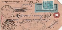 Carte Pour Le Brésil Echantillons 1936 - Postmark Collection (Covers)