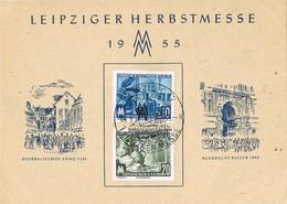 30085. Tarjeta LEIPZIG (Alemania DDR) 1955. Leipziger HerbstMesse - Briefe U. Dokumente