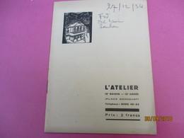 L'Atelier/Charles DULLIN/Rosalinde Ou Comme Il Vous Plaira/ SHAKESPEARE/ Vital/ JL Barrault/1934-35     PROG194 - Programs