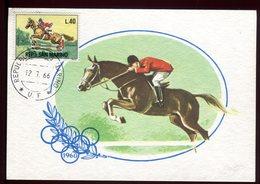 Saint Marin - Carte Maximum 1966 - Sport - Hippisme - O 240 - Lettres & Documents