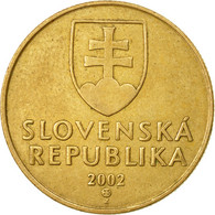 Monnaie, Slovaquie, Koruna, 2002, TTB, Bronze Plated Steel, KM:12 - Slovaquie