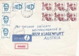 POLSKA - 11 Fach Frankierung Auf Express-LP-Briefstück - 1944-.... Republik