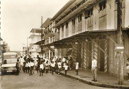 French Guiana, Guyane, CAYENNE, Rue Molé, Passage Du Carnaval (1960s) Postcard - Postcards