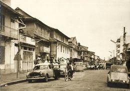 French Guiana, Guyane, CAYENNE, Rue Lalouette, Passage De Chars, Carnaval (1967) - Cartes Postales