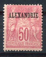 RC 10171 ALEXANDRIE N° 15 - 50c TYPE SAGE TYPE II SURCHARGE NEUF * TB - Alexandria (1899-1931)