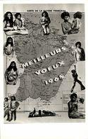 French Guiana, Guyane, MAP Card Topless Native Indian Women (1968) - Postcards