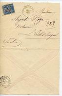 ENVELOPPE DEPLIEE 1888 AVEC CACHETS APT A CAVAILLON ET L'ISLE SUR LA SORGUE - 1898-1900 Sage (Type III)