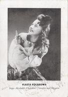 VLASTA KOLAROWA - Stepp, Akrobatik, Charakter, Tänzerin Und Sängerin, Orig.Karte Aus Prag 1944 - Kabarett