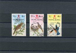 HONG-KONG 1975 Royal BIRDS M.313/315 CTO. - Hong Kong (...-1997)