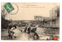 35699-ZE-31-LA HAUTE GARONNE--L'ISLE-EN-DODON-LAVEUSES AU BORD DE LA SAVE----------animée - France