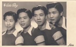 4 ASIA BOYS - Orig.Fotokarte Mit Widmung 1946 - Schauspieler
