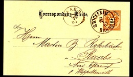Entier Postal, Gare De Stockerau Pour Raabs 1887 - Lettres & Documents