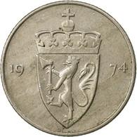 Monnaie, Norvège, Olav V, 50 Öre, 1974, TTB, Copper-nickel, KM:418 - Norvège