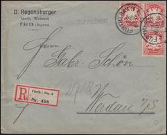 Bayern R-Brief Mech. Weberei FÜRTH 23.3.10 Nach WERDAU/Sachsen 24.3.10 - Textil