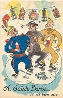 Humour - Ref 68- Illustrateurs - Illustrateur - Sainte Barbe - Ste Barbe - Mine -mineurs  - Carte Bon Etat - - Humour