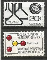 MEXIQUE. Le Mexique Exporte Produits Chimiques.  2 Timbres Neufs ** - Chemie
