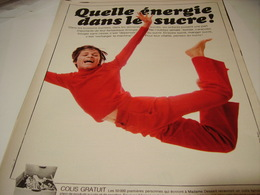 ANCIENNE AFFICHE PUBLICITE LE SUCRE QUELLE ENERGIE 1969 - Posters