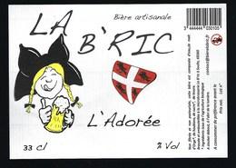 """Etiquette Biere L'adorée   % 33 Cl  Brasserie La B'ric Soultz 68 """"femme Alsace"""" - Beer"""