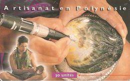 CARTE°-PUCE-POLYNESIE-30U-PF86-GEMA -07/99  -GRAVEUR  SUR NACRE-UTILISE-TBE - French Polynesia