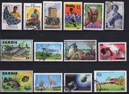 Zambia Small Selection Of Fine Used Modern Commemorative Stamps. - Zambia (1965-...)