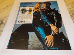 ANCIENNE PUBLICITE  MONTRE YEMA 1969 - Autres