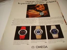 ANCIENNE PUBLICITE  MONTRE OMEGA DYNAMIC 1969 - Jewels & Clocks
