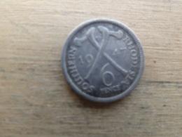 Southern Rhodesia   6  Pence  1947  Km 17b - Rhodésie