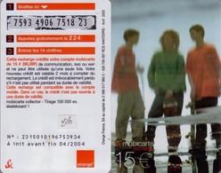 MBC 226 MOBICARTE PU221 SKATE GROUPE 15€uro AVRIL 2002-04/2004 - France