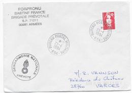 1994 - GENDARMERIE En BOSNIE - ENVELOPPE Du BPM 654 - Marcophilie (Lettres)