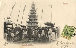 Mauritius, YAMSÉ, Le Ghoon, Hindu Funeral Tower (1905) Postcard - Mauritius