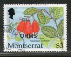 Montserrat 2002 $3 Fruits Cashew O/p OHMS Sc O153 Used # 240A - Montserrat