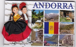 ANDORRA : Drapeau ( Jupe En Tissu) - Tourisme