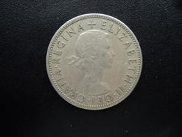 ROYAUME UNI : 1/2 CROWN   1954    KM 907    TTB - 1902-1971 : Monnaies Post-Victoriennes