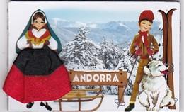 ANDORRA : LE SKI  ( Jupe En Tissu) - Tourisme